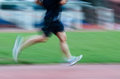 People activity running blur on sport ground Royalty Free Stock Images