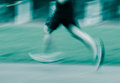 People activity running blur on sport ground Royalty Free Stock Photography