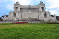 People at Altare della Patria Monument in Rome Royalty Free Stock Photo