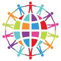 People around the world, peace or travel concept, vector Royalty Free Stock Photo