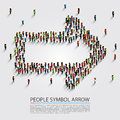 People arrow isometric, Arrow group sign, Vector illustration Royalty Free Stock Photo