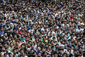 People assembled for funeral prayers Royalty Free Stock Photo