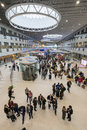 People attend open innovations forum in new building skolkovo technopark skolokovo russia october Stock Photography