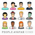 People avatar icons from casual to business vector illustration set Royalty Free Stock Image
