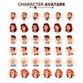 People Avatar Set Vector. Man, Woman. User Portrait. Office Worker. Beautiful Male, Female. Modern Employer. Default