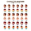 People Avatar Set Vector. Man, Woman. User Person. Trendy Image. Comic Face Art. Cheerful Worker. Round Portrait. Cute Royalty Free Stock Photo