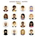 People avatars collection,busines man and business woman