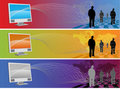 People banner Royalty Free Stock Photography