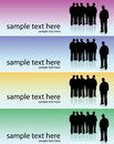 People banner Royalty Free Stock Images
