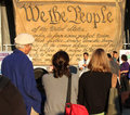 We the People Banner at Freedom Plaza Stock Image