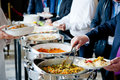 People at a banquet Royalty Free Stock Photo