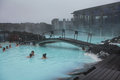 People bathing in Blue Lagoon in Iceland Royalty Free Stock Photo