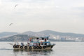 People on the boat with rations istanbul turkey Stock Photography