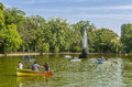 People boating in Cismigiu park Royalty Free Stock Photo