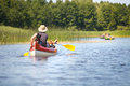 People boating on river Royalty Free Stock Photo