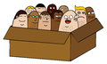 People in box Stock Photography