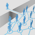 People bridge gap connect join network merger team Royalty Free Stock Photography