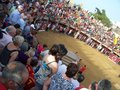 People in bull arena in Oropesa del mar Stock Images