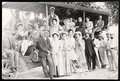 People in bus old photograph vintage photography time public transportation Stock Images