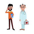 People businessman and doctor different professions vector illustration.