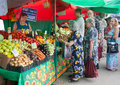 People buying vegetables in Vegetable Fair