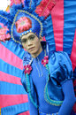 People on carnival tarakan indonesia dec a man with combined traditional dress in celebration nd tarakan cultural dec in tarakan Stock Image