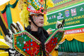 People on carnival tarakan indonesia dec a man with combined traditional dress in celebration nd tarakan cultural dec in tarakan Stock Photography