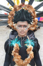 People on carnival tarakan indonesia dec a man with combined traditional dress in celebration nd tarakan cultural dec in tarakan Stock Photo