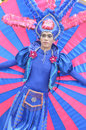 People on carnival tarakan indonesia dec a man with combined traditional dress in celebration nd tarakan cultural dec in tarakan Royalty Free Stock Photography
