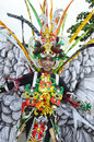 People on carnival tarakan indonesia dec a transvestites with combined traditional dress in celebration nd tarakan cultural dec in Royalty Free Stock Image