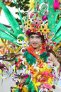 People on carnival tarakan indonesia dec a transvestites with combined traditional dress in celebration nd tarakan cultural dec in Royalty Free Stock Images
