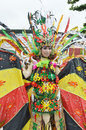 People on carnival tarakan indonesia dec a transvestites with combined traditional dress in celebration nd tarakan cultural dec in Royalty Free Stock Photos