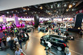 People and cars at the Paris Motor Show 2012 Royalty Free Stock Photography