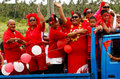 People celebrate arrival of fuifui moimoi on vavau island in tonga Stock Images