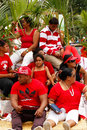 People celebrate arrival of fuifui moimoi on vavau island in tonga Stock Photo