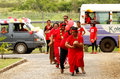 People celebrate arrival of fuifui moimoi on vavau island in tonga Royalty Free Stock Images
