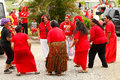 People celebrate arrival of fuifui moimoi on vavau island in tonga Stock Photos