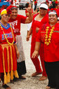 People celebrate arrival of fuifui moimoi on vavau island in tonga Royalty Free Stock Photography