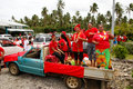People celebrate arrival of fuifui moimoi on vavau island in tonga Royalty Free Stock Photos