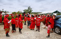 People celebrate arrival of fuifui moimoi on vavau island in tonga Royalty Free Stock Image