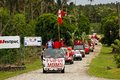 People celebrate arriving of fuifui moimoi on vavau island in tonga Stock Image