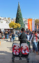 People celebrate christmas nazareth israel december the near the greek orthodox church of the annunciation in nazareth israel Royalty Free Stock Photo