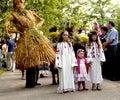 People celebrate holiday of Ivana Kupala on natural nature