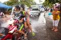 People celebrated Songkran Festival Royalty Free Stock Photo