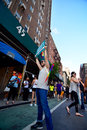 People celebrating gay marriage rights at Stonewall Inn New york Royalty Free Stock Photo
