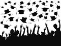People celebrating graduation background