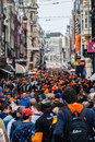 People celebrating at koninginnedag or queens day was a national holiday in the kingdom of the netherlands until celebrated on Royalty Free Stock Photo