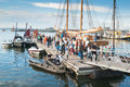 People on celebrating at the Tallinn's Sea Days Royalty Free Stock Images
