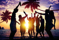 People Celebration Beach Party Summer Holiday Vacation Concept Royalty Free Stock Photo