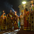 People during celebration of orthodox easter midnight office of pascha athens greece apr unknown holy saturday is often the only Royalty Free Stock Photography